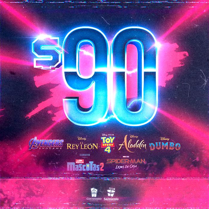 Promo $90 en Los Cines de la Costa